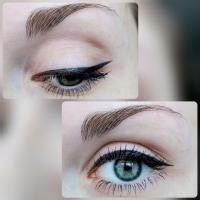 Лайнер для глаз Maybelline Master Precise коричневый -  в макияже глаз, тонкая и широкая стрелка