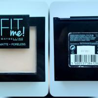 Пудра Maybelline Fit Me 104 Cветло-бежевый - коробочка спереди и сзади