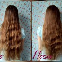 Шампунь Natura Siberica Oblepikha облепиховый Питание и восстановление с эффектом ламинирования для ослабленных и поврежденных волос - эффект До и После