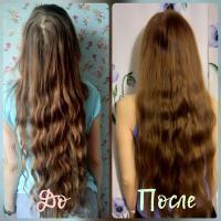 Шампунь Natura Siberica Oblepikha облепиховый Максимальный объем для всех типов волос - эффект До и После