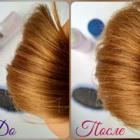 Спрей-сияние для волос Estel Let It Snow Glanzspray - эффект До и После