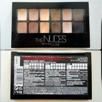 Палетка теней Maybelline The Nudes - информация на кейсе
