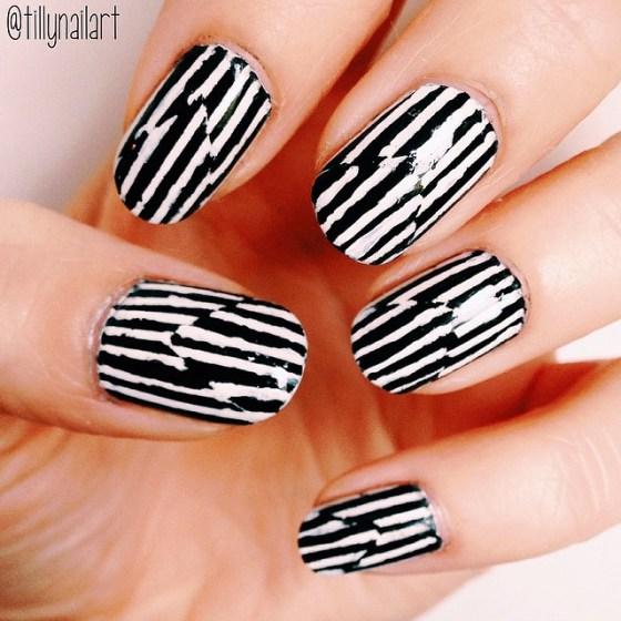 Смазанный лак на ногтях
